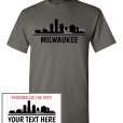 Milwaukee, WI Skyline T-Shirt