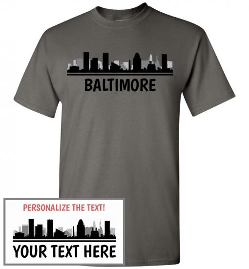 Baltimore, MD Skyline T-Shirt