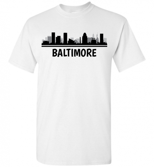 Baltimore, MD Skyline T-Shirt