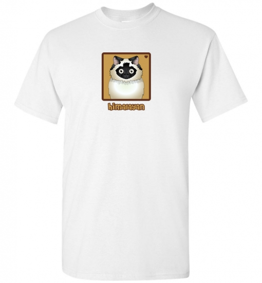 Himalayan Cat T-Shirt / Tee (Seal-Point)