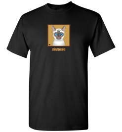 Siamese Cat T-Shirt / Tee (White, Lilac)