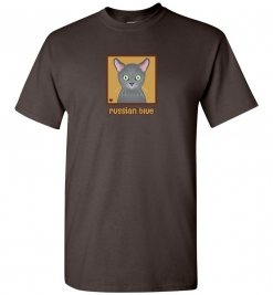 Russian Blue Cat T-Shirt / Tee