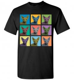 Sphynx Cat Pop-Art T-Shirt / Tee