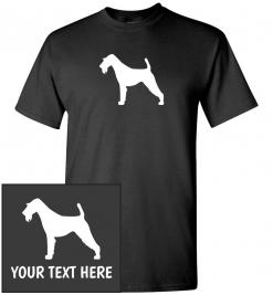 Airedale Terrier Silhouette Custom T-Shirt