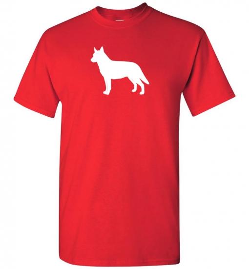 Australian Cattle Dog Silhouette Custom T-Shirt