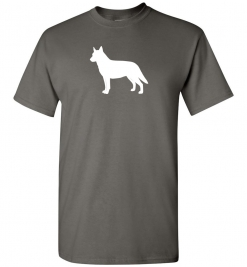 Australian Cattle Dog Silhouette Custom T-Shirt