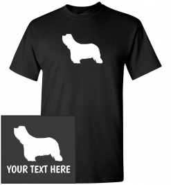 Bearded Collie Silhouette Custom T-Shirt