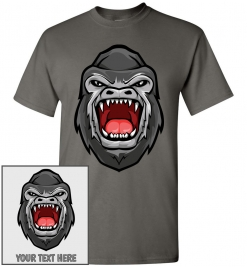 Gorilla Head T-Shirt / Tee
