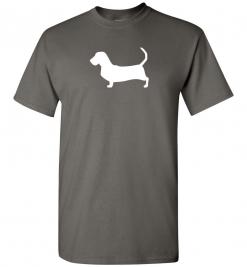 Basset Hound Silhouette Custom T-Shirt