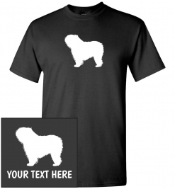 Polish Lowland Sheepdog Dog Custom T-Shirt