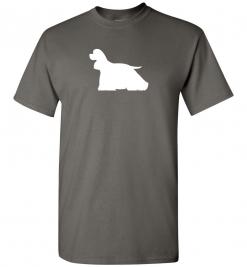 American Cocker Spaniel Silhouette Custom T-Shirt