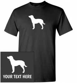 American Water Spaniel Silhouette Custom T-Shirt