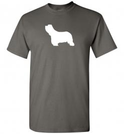 Bearded Collie Silhouette Custom T-Shirt