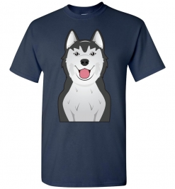 Siberian Husky Cartoon T-Shirt