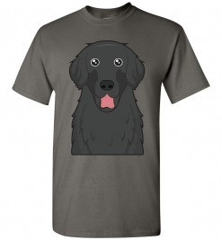 Flat-Coated Retriever Cartoon T-Shirt
