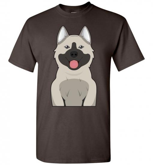 Norwegian Elkhound Cartoon T-Shirt