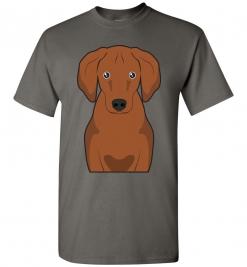 Redbone Coonhound Cartoon T-Shirt