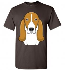 Basset Hound Cartoon T-Shirt