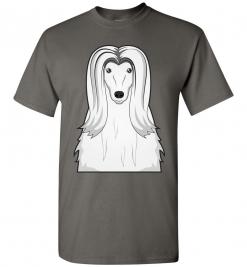 Afghan Hound Cartoon T-Shirt