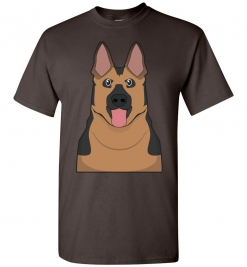 German Shepherd Cartoon T-Shirt