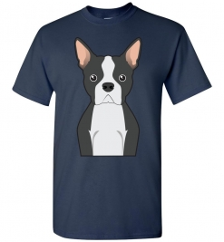 Boston Terrier Cartoon T-Shirt