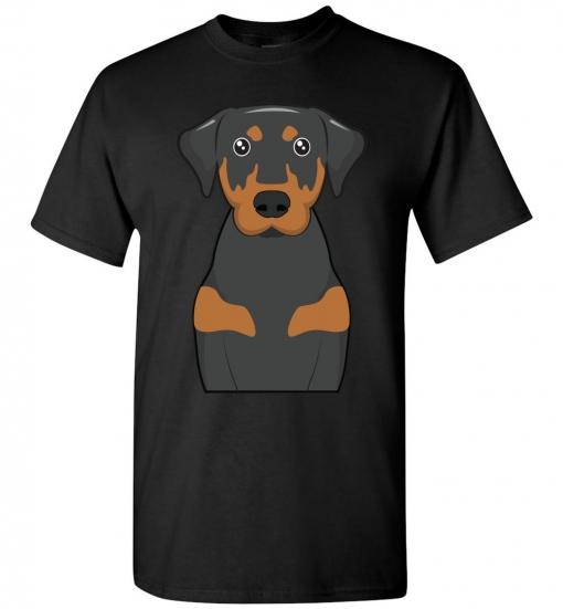 Black & Tan Coonhound Cartoon T-Shirt