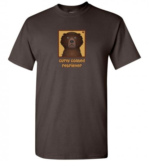 Curly-Coated Retriever Dog T-Shirt / Tee