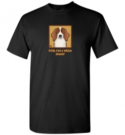 Irish Red & White Setter Dog T-Shirt / Tee