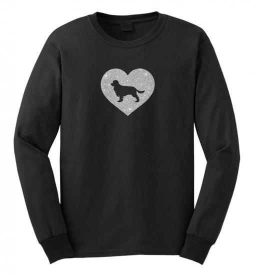 Cavalier King Charles Spaniel Dog Glitter T-Shirt