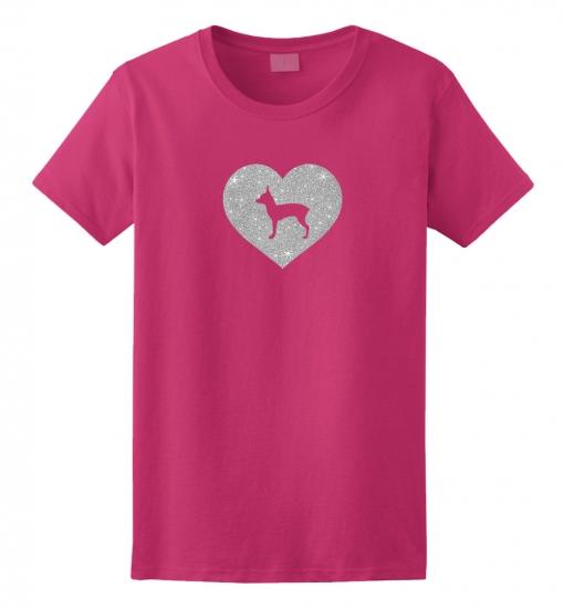 Toy Terrier Dog Glitter T-Shirt