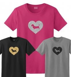 Basset Hound Dog Glitter T-Shirt