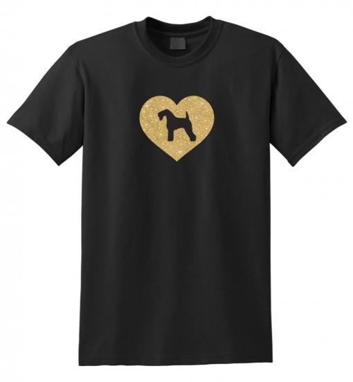Kerry Blue Terrier Dog Glitter T-Shirt