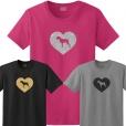German Wirehaired Pointer Dog Glitter T-Shirt