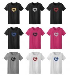 Shetland Sheepdog Dog Glitter T-Shirt