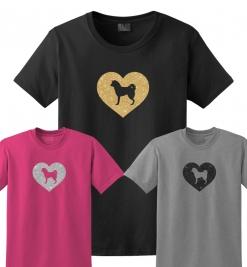 Akita Dog Glitter T-Shirt