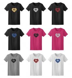 Redbone Coonhound Dog Glitter T-Shirt