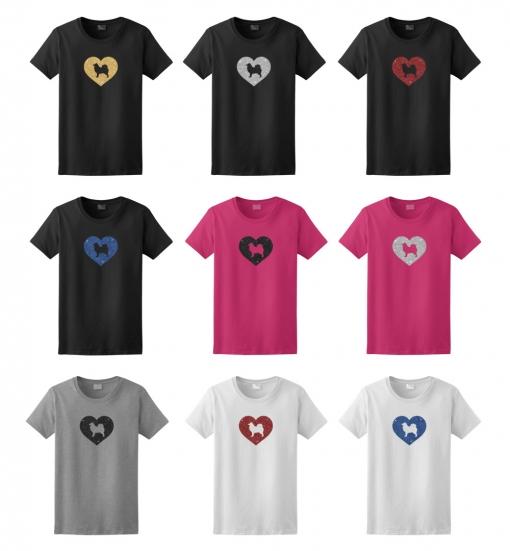 Samoyed Dog Glitter T-Shirt