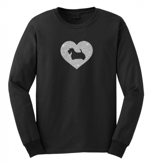 Scottish Terrier Dog Glitter T-Shirt