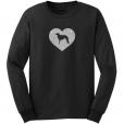 Borzoi Dog Glitter T-Shirt