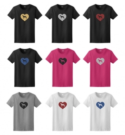 Greyhound Dog Glitter T-Shirt
