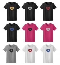 American Foxhound Dog Glitter T-Shirt