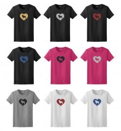 Border Collie Dog Glitter T-Shirt
