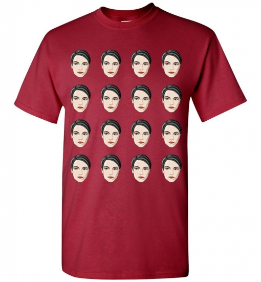 Alexandria Ocasio-Cortez Heads T-Shirt