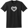 Siberian Cat Glitter T-Shirt