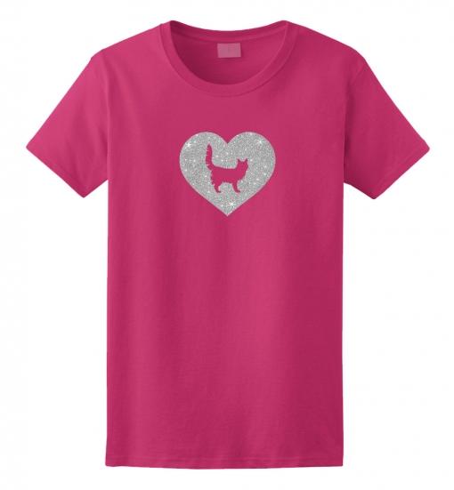 Turkish Angora Cat Glitter T-Shirt