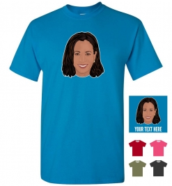 Kamala Harris Head Personalized (or not) T-Shirt