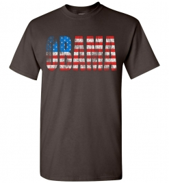 Obama Distressed Flag T-Shirt