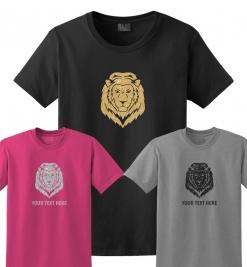 Lion Head Glitter T-Shirt