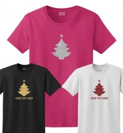Christmas Tree Glitter T-Shirt