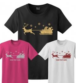 Santa's Sleigh Glitter T-Shirt